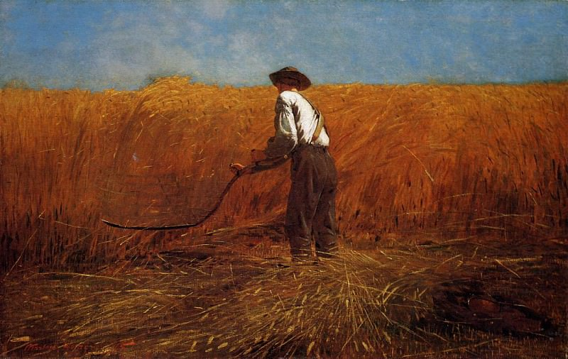 The Veteran in a New Field aka buchet. Winslow Homer