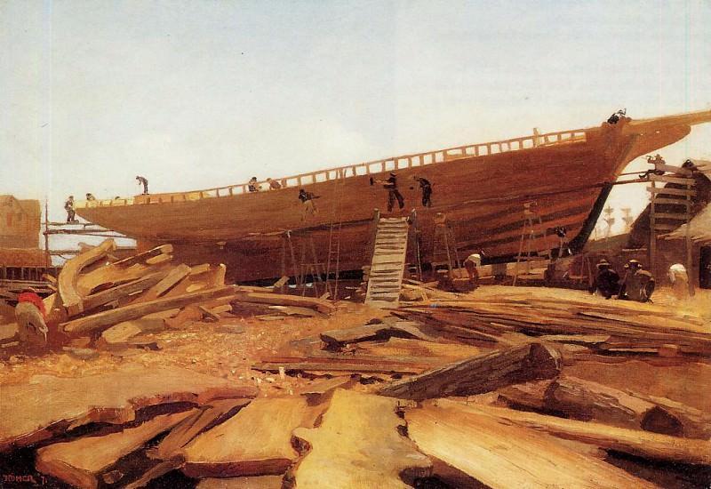Shipbuilding at Gloucester. Winslow Homer