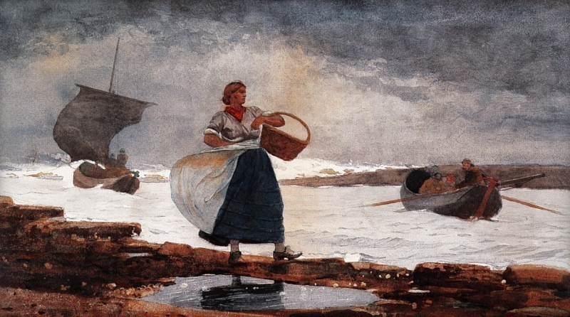 zFox SWD WH 25 Inside the Bar Cullercoats 1883. Winslow Homer