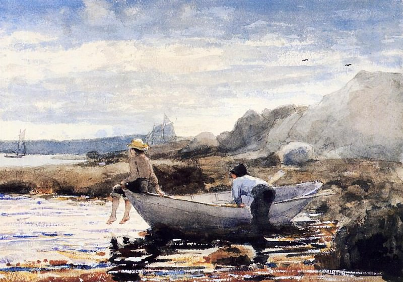 Boys in a Dory. Winslow Homer
