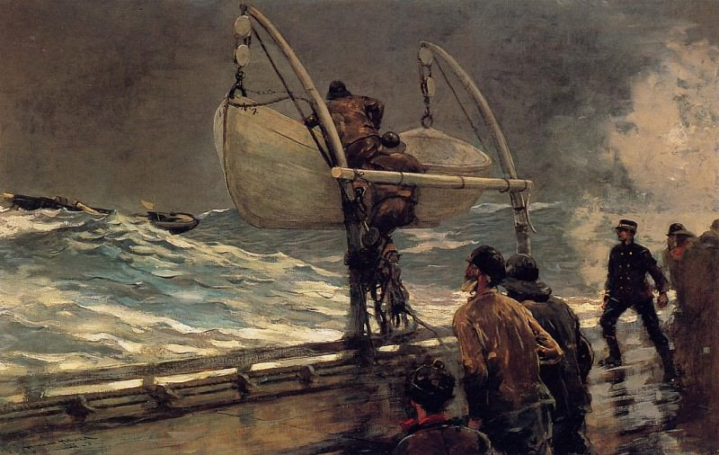 The Signal of Distress. Winslow Homer