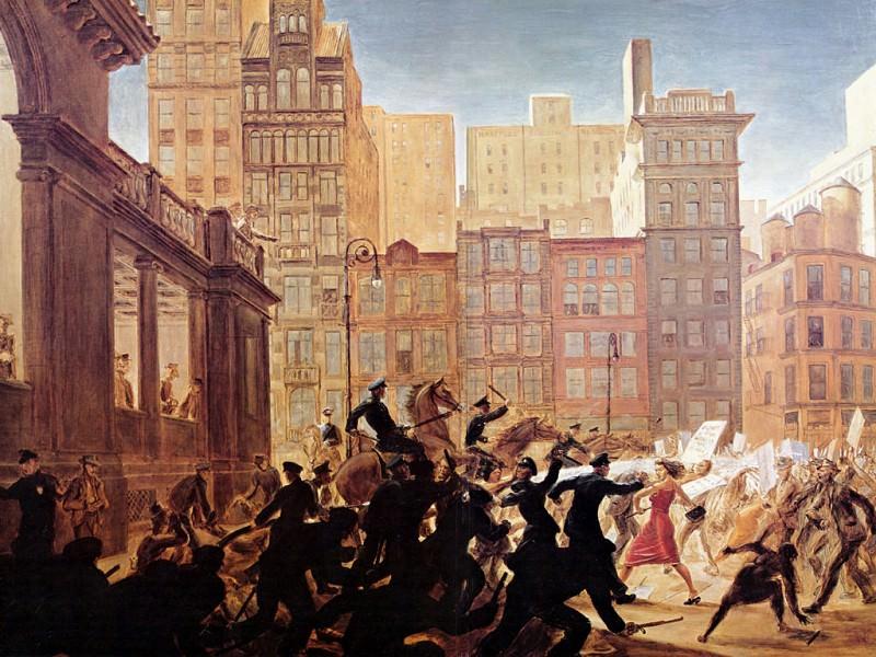 JLM-1947-Peter Hopkins-Riot in Union Square (1930). Peter Hopkins