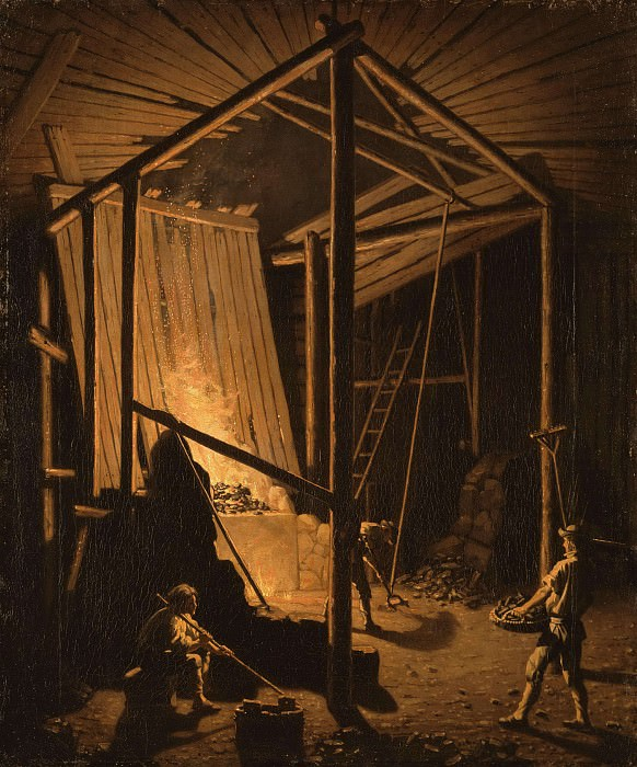 Copper Foundry at the Falun Mine. Pehr Hilleström