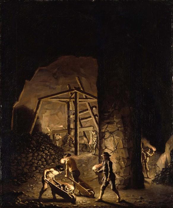 Gallery in Falun Copper Mine. Pehr Hilleström