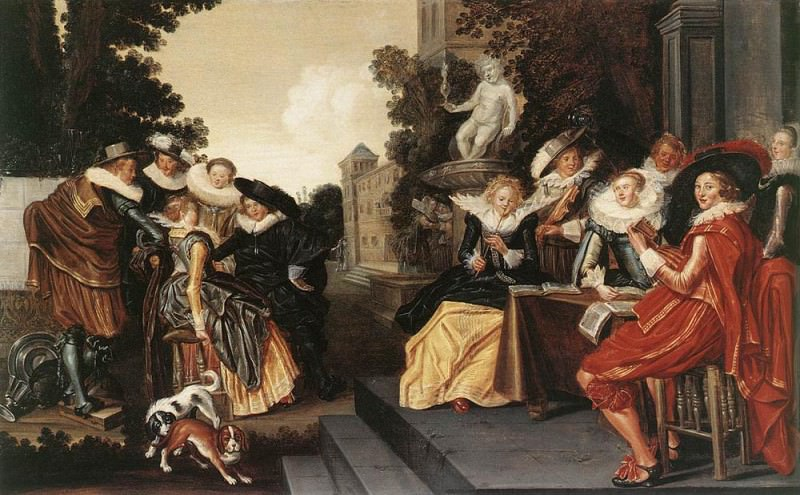 Garden Party. Dirck Hals