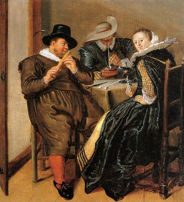 Merry company with flute player. Dirck Hals