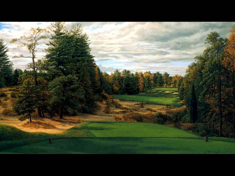 hallowed ground csg006 pine valley 18th hole. Linda Hartough