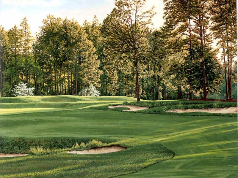 hallowed ground csg026 pinehurst 5th hole. Linda Hartough