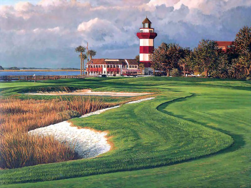 hallowed ground csg003 harbor town golf links 18th hole. Linda Hartough