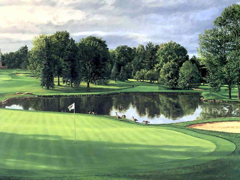hallowed ground csg008 baltusrol golf club 4th hole. Linda Hartough