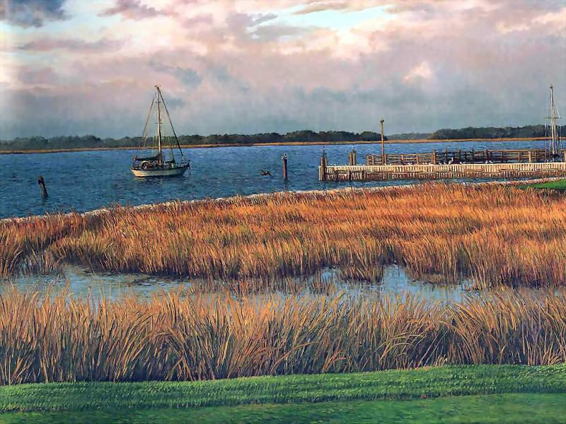 hallowed ground csg002 harbor town golf links 18th hole. Linda Hartough