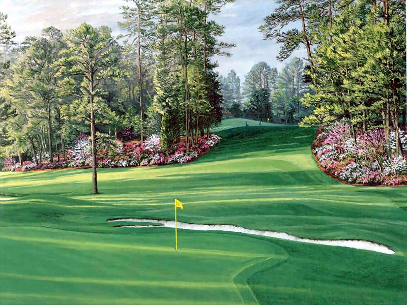 hallowed ground csg030 augusta national 6th hole. Linda Hartough