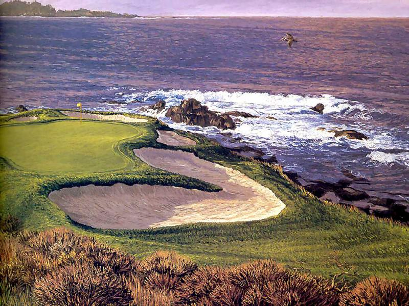 fairways csg001 pebble beach 7th hole-linda hartough. Linda Hartough