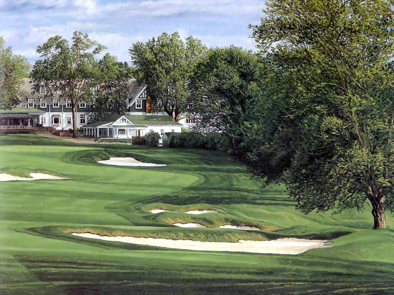 hallowed ground csg020 oakmont country club 18th hole. Linda Hartough