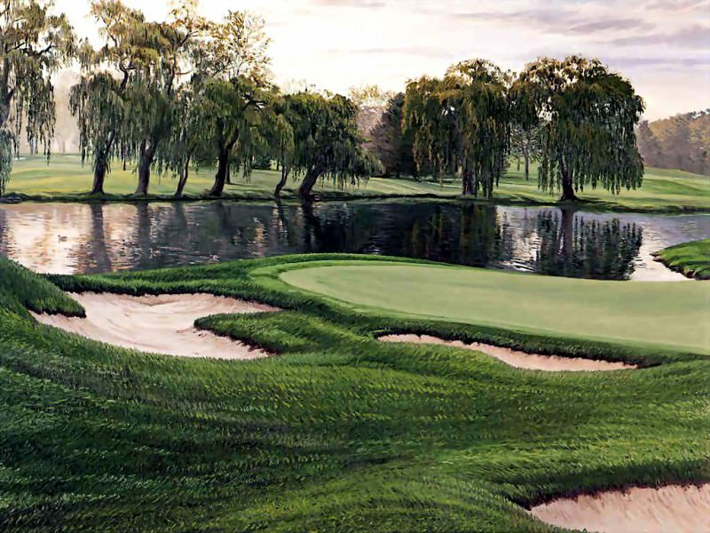hallowed ground csg019 oakland hills country club 16th hole. Linda Hartough