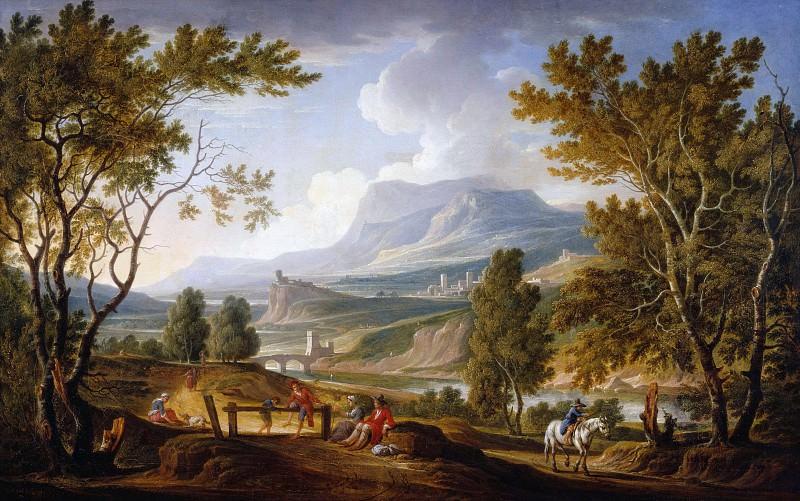 Italian landscape. Adolf Friedrich Harper