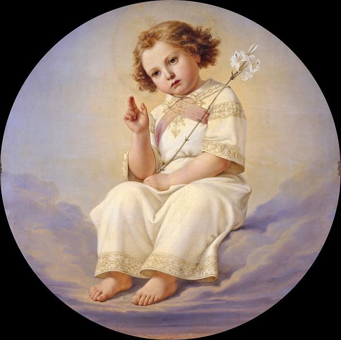 Маленький Христос на облаке. Юлиус Гюбнер