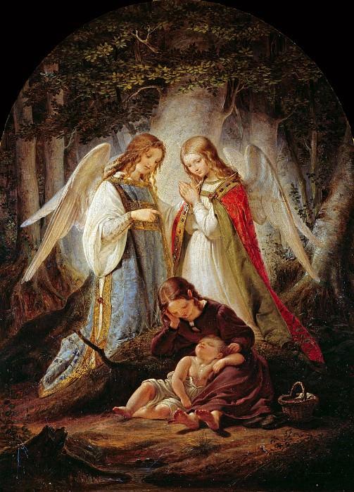 The guardian angels. Julius Hübner