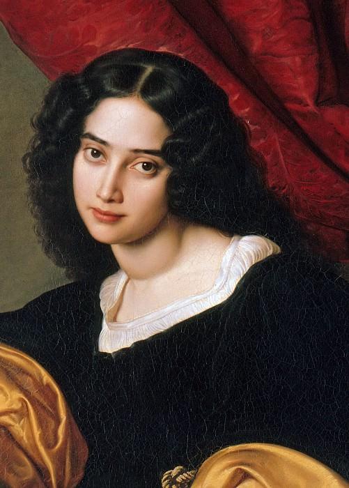 Pauline Charlotte Hubner (fragment). Julius Hübner