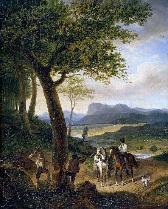 Тирольские лесорубы. Карл Вильгельм фон Гайдек