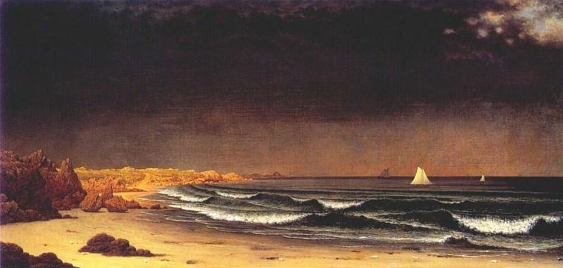 heade approaching storm (beach near newport) c1860s. Martin Johnson Heade