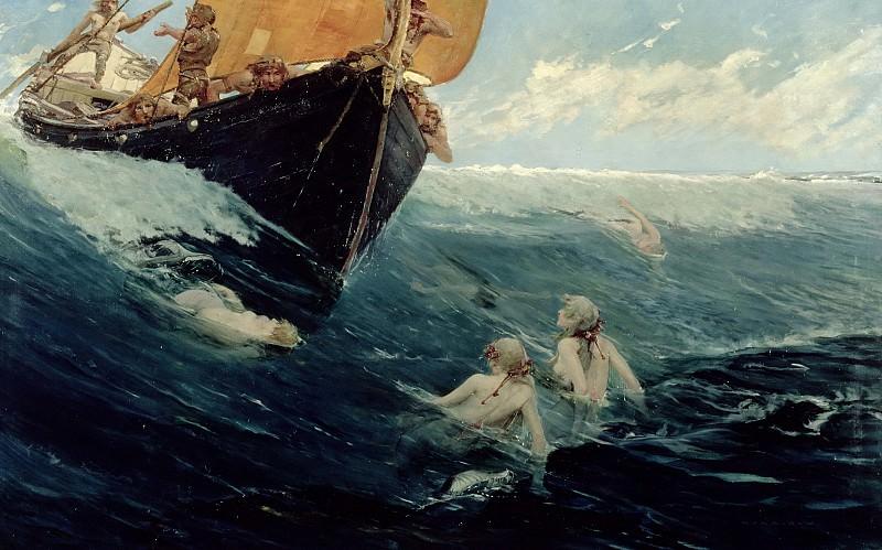 Риф с русалками 1894. Edward Matthew Hale (The Mermaid's Rock)