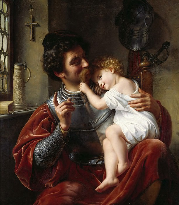 The Soldier and his Child. Theodor Hildebrandt