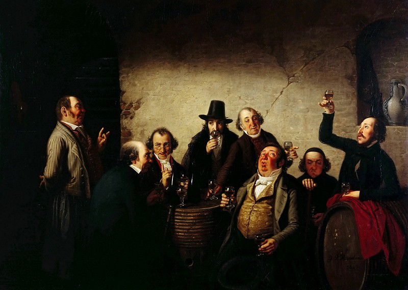 The Wine Tasting. Johann Peter Hasenclever