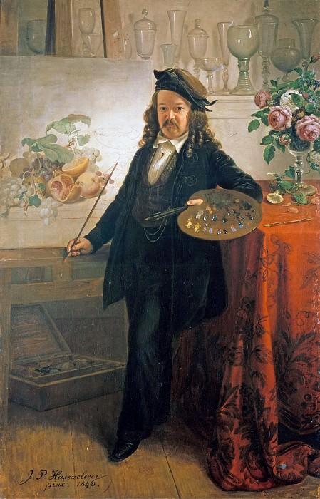 Портрет художника Иоганна Вильгельма Прейера. Иоганн Петер Хазенклевер