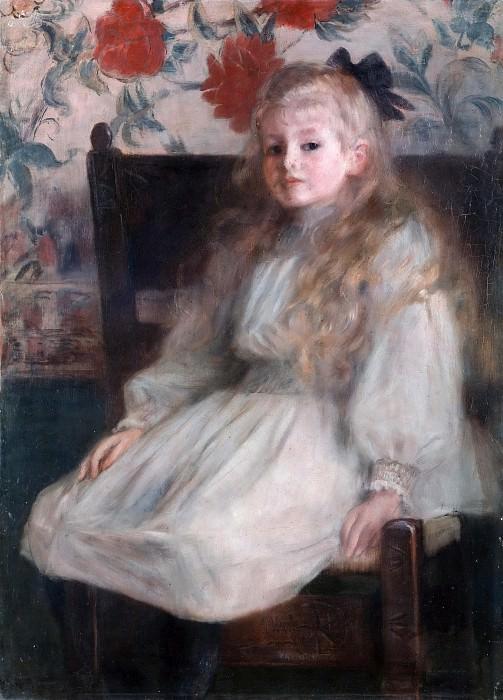 Portrait of a little girl. Dora Hitz