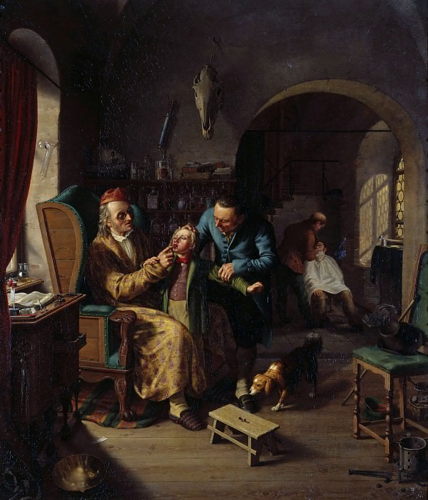 At the dentist. Johann Gottlieb Hantzsch