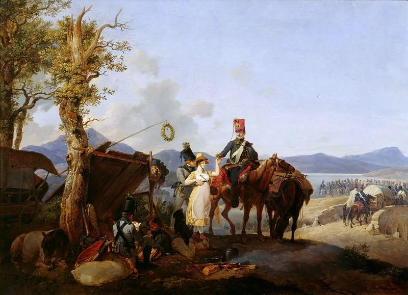 Sutlers scene. Peter Von Hess