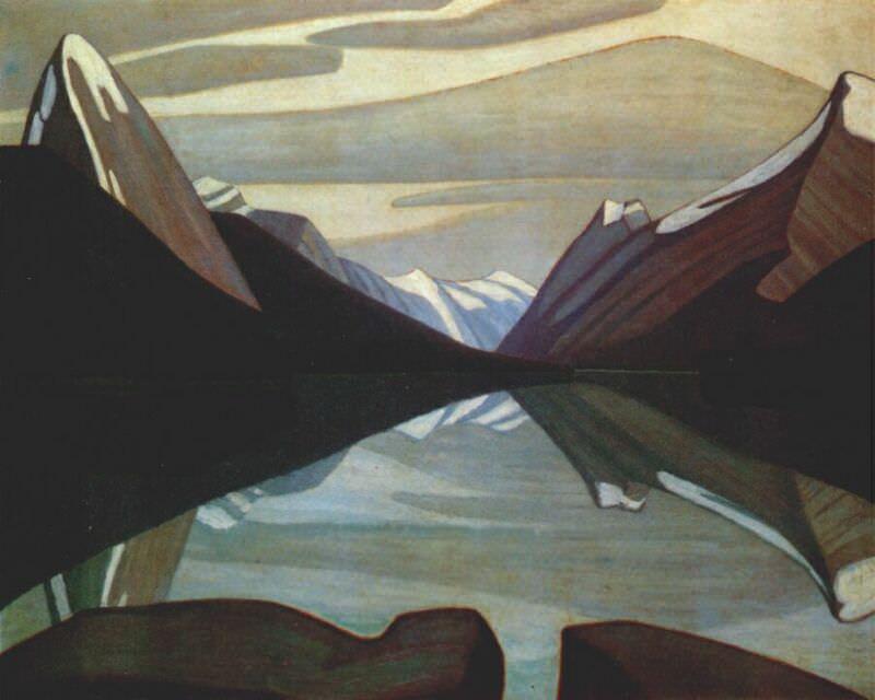 maligne lake, jasper park 1924. Harris