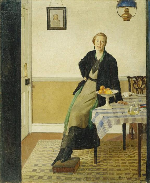An Interior, 1919. Harold Harvey