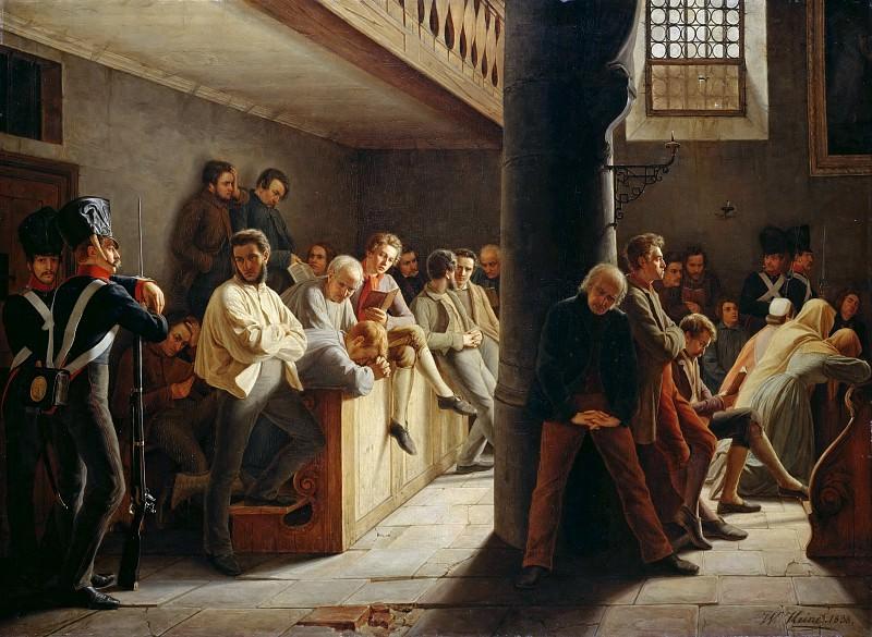Service in the prison church. Wilhelm Joseph Heine
