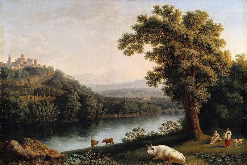 River landscape. Якоб Филипп Гаккерт