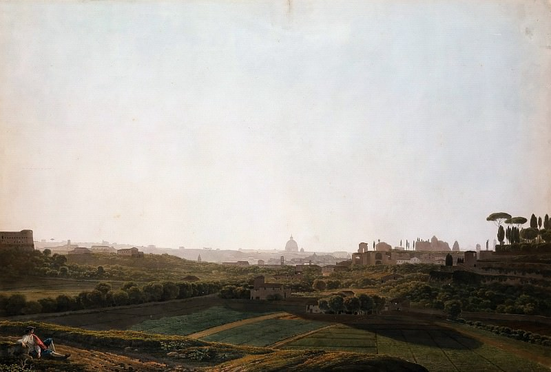 View of Rome from the Southeast. Якоб Филипп Гаккерт