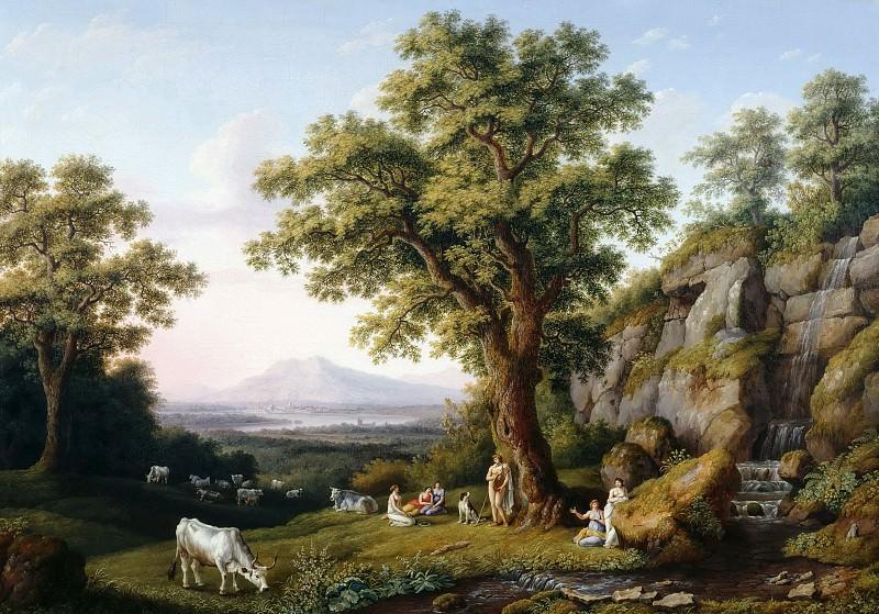 Аркадский пейзаж с Аполлоном. Якоб Филипп Хаккерт