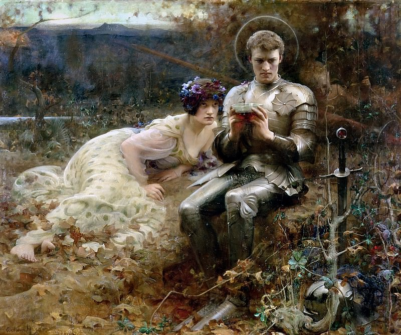 The Temptation of Sir Percival. Arthur Hacker