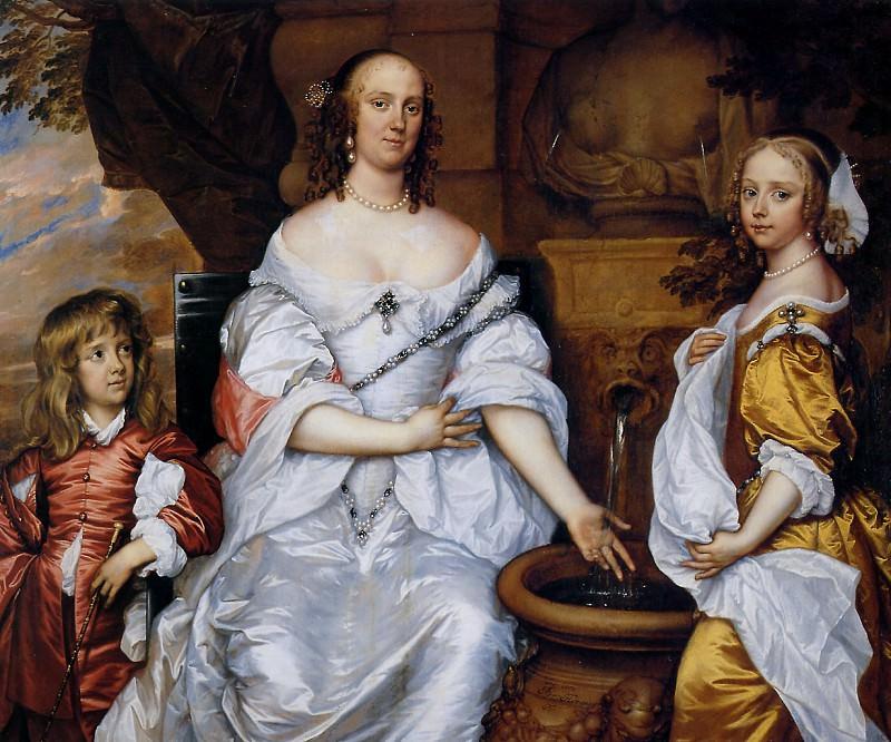 Maria van Reigersberg and children. Adriaen Hanneman