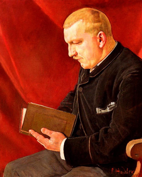 Lesender Mann. Ferdinand Hodler