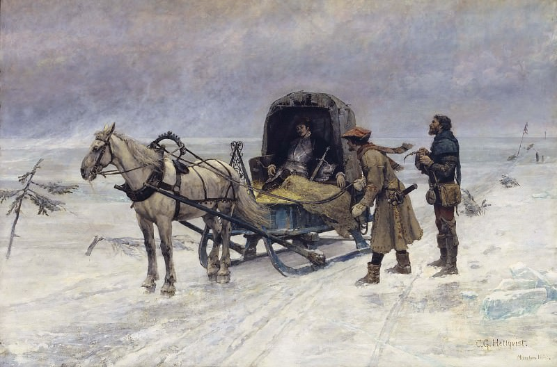 The Death of Sten Sture the Younger on the Ice of Lake Mälaren. Carl Gustaf Hellqvist