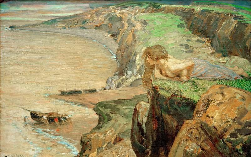 Southern rock coast. Ludwig Hofmann