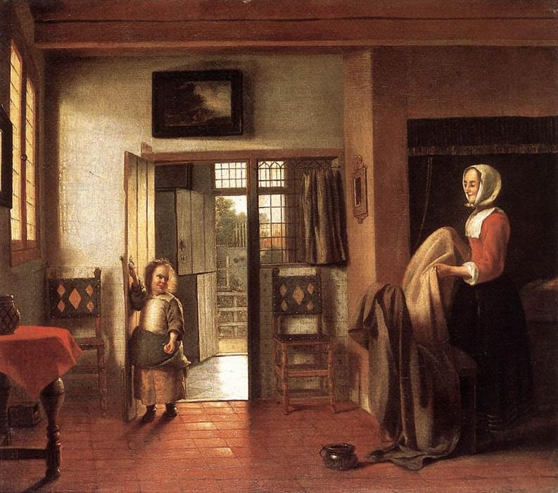 HOOCH Pieter de The Bedroom. Pieter de Hooch