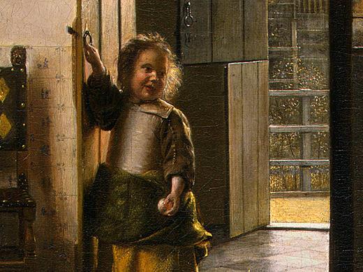 THE BEDROOM, 1658-1660, DETALJ. Pieter de Hooch