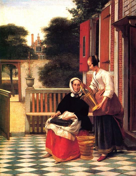 Hooch de Mistress Servant. Pieter de Hooch