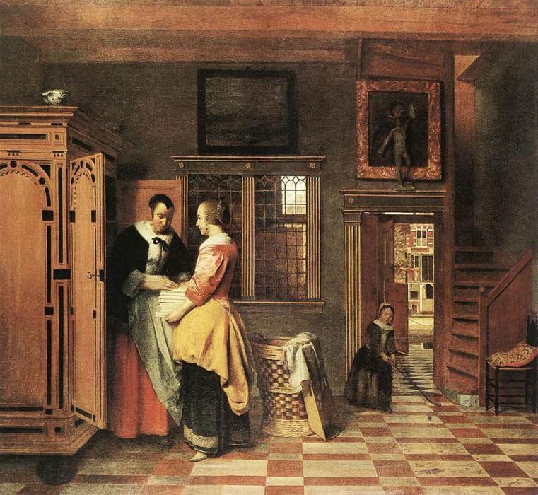At the Linen Closet. Pieter de Hooch