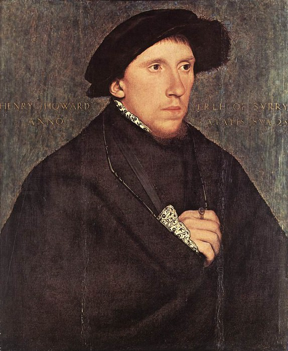 Portrait of Henry Howard the Earl of Surrey. Hans The Younger Holbein