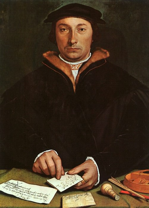 Portrait of Dirck Tybis, 1533, oil on panel, Art His. Hans The Younger Holbein