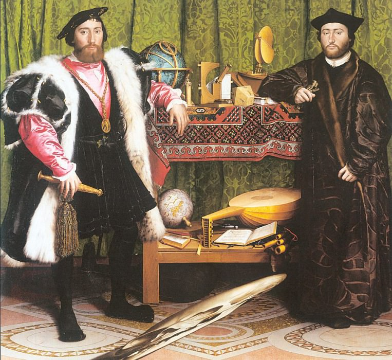 The Ambassadors. Hans The Younger Holbein